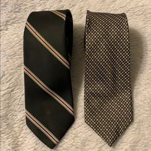 Two Christian Dior ties